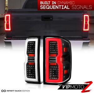 latest Design 14 18 Chevy Silverado 1500 2500 3500 Led Black Tail Lights Pair