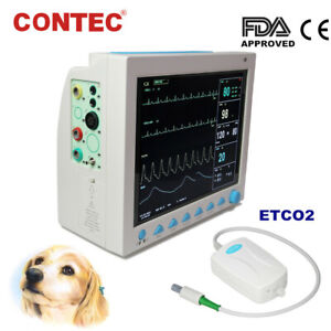 Contec Cms8000 Veterinary Vital Signs Icu Patient Monitor vet Capnograph Co2 new