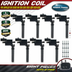 8x Ignition Coils For Dodge Ram 1500 2500 3500 Durango 300 5 7l 2003 2005 Uf378