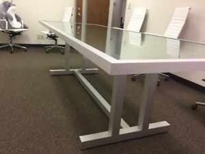 New Custom Modern Aluminum glass Conference Table