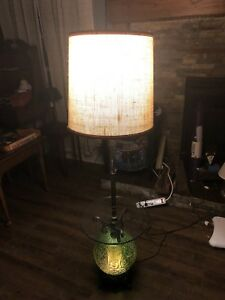 Vintage Mid Century Modern Floor Lamp With Table And Night Light