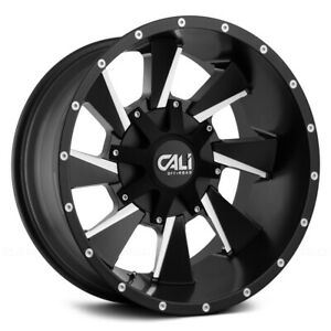 Cali Off road 9106 Distorted 20x10 5x5 5x5 5 Et 19 Blk milled Spokes qty Of 4