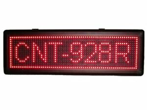 Programmable Scrolling Led Sign Indoor Display 9 Inch h X 28 Inch w red