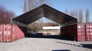 20 X 40 Cargo Shipping Container Cover Safe Dry Storage Or Covered Work Area