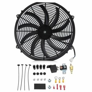 16 Inch Electric Radiator Cooling Fan 12v 3000cfm Relay Thermostat Kit Ex