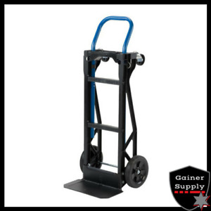 Hand Truck Moving Dolly 2 in 1 Convertible 4 wheel Platform Steel Cart 400 Lb
