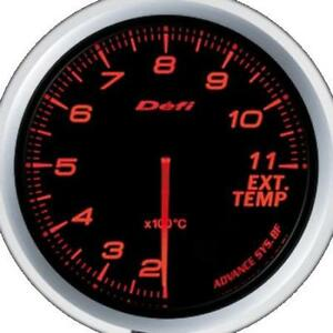 Defi Advance Bf Red 60mm Egt Gauge Metric