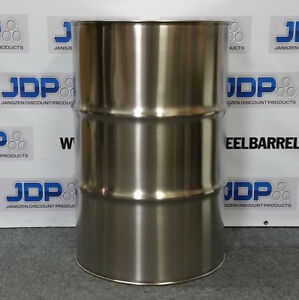 55 Gallon Stainless Steel Barrel Drum Closed Top 1 2mm Thick New 16 Pack