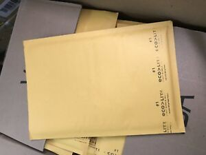 Pack Of 85 Eco lite 7 25 x12 Kraft Bubble Mailers Padded Shipping Envelopes 918