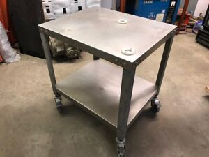 Stainless Steel Hamburger Patty Machine Work Rolling Table Wheels Heavy Duty