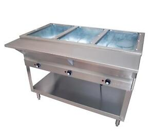Bk Resources Ste 3 120 Electric 3 Compartment Open Well Steam Table 120v