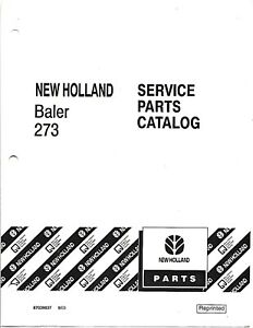 New Holland 273 Square Baler Service Parts Catalog 87039037
