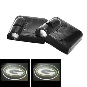 2x Green Bay Packers Wireless Led Courtesy Car Door Laser Welcome Ghost Lights