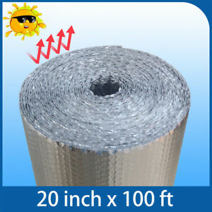 Insulation Roll Bubble Foil Reflective Double Radiant House Building 20 X 100ft