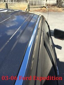 For 2003 2006 Ford Expedition Chrome Roof Top Trim Molding Kit