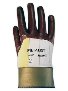 Ansell Metalist 28507 Kevlar Cut Resistant Gloves Size 8 12 Pairs