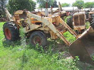 1965 1969 Case 430 Tractor With Bucket And Backloader
