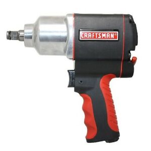 Pneumatic Impact Wrench And Driver Craftsman 1 2 In Air Compressor Gun Half Inch