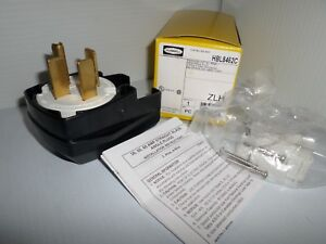 new In Box Hubbell Hbl8462c 60 amp Plug 3 pole 4 wire 60a 3 Phase 250v 16 50p