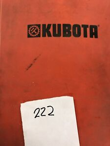 Kubota Parts Book Mower tiller