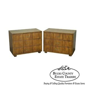 Henredon Campaign Style Pair Of Cabinets Chests