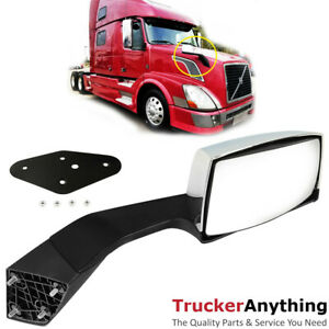 Hood Mirror Assy Volvo VNL 04-15 Right Passenger Manual Chrome  Front Side View $54.99