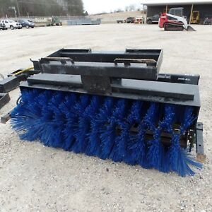 72 Inch Manual Angle Sweeper Broom Skid Steer Attachment Usa Made