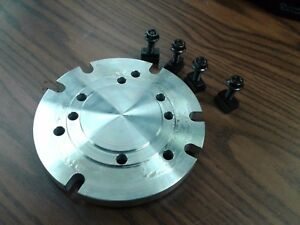 6 Base Adapter Plate Mount Chucks On Rotary Table Or Milling Machine in adp 6