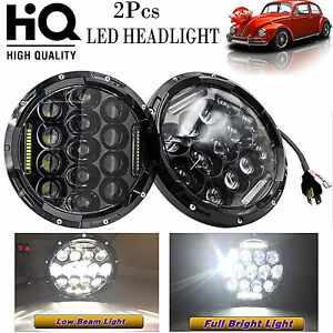 7 Led Headlights 150w Total Round Upgrade Hi Lo Beam Kit For Vw Beetle Classic
