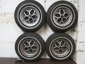 78 88 Pontiac Grand Prix Cutlass Wheels Tires Set 14x6jj Good Tires