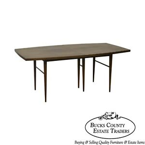 Paul Mccobb For Calvin Mid Century Modern Walnut Dining Table W 3 Leaves