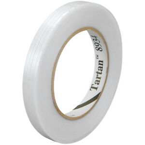 Tartan 3m 8934 Strapping Tape 4 0 Mil 1 2 X 60 Yds Clear 12 case T913893412pk