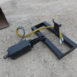 Bobcat Skid Steer Attachment Auger With 12 Bit Post Hole Usa Made