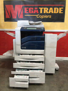 Xerox Workcentre 7835 Color Laser Copier Machine Printer Scan Fax Finisher 35ppm