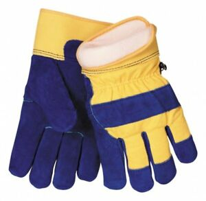 Tillman 1568 Blue Split Cowhide Leather Palm Gloves With Coldblock Liner