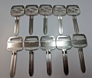 Lot Of 10 Tr47 Key Blank Nickel Plated Ilco Made In Usa Big Head New