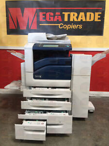 Xerox Workcentre 7845 Color Mfp Laser Copier Printer Scanner Fax Finisher 45 Ppm