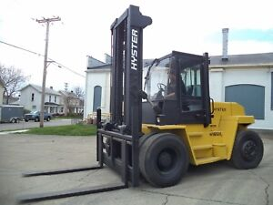Hyster H165xl 2 16 500 16500 Pneumatic Tired Forklift Diesel Side Shift