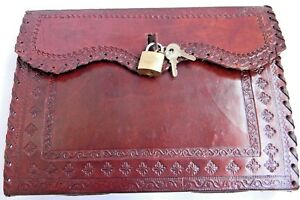 Handmade Leather Journal Notebook Diary With Key Lock Plan Handmade Paper