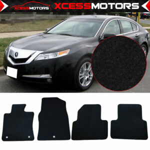 Fits 09 14 Acura Tl Black Nylon Front Rear Floor Mats Carpets 4pc