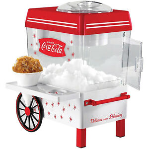 Coca Cola Snow Cone Maker Red Counter Top Slushies Shaved Ice Machine Kitchen