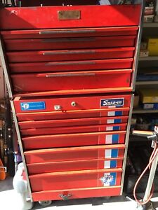 Snap on 379a Rolling Tool Box Bicentennial Limited Edition Top And Bottom