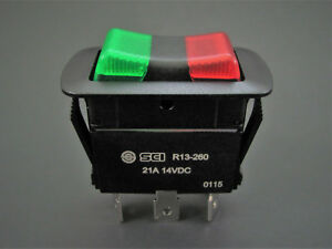 Nte 54 241w Illuminated Spdt On off on Waterproof Rocker Switch 21a 12v