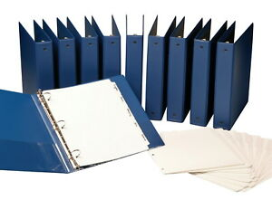 Samsill Anti microbial Round Ring Binder With Dividers 1 1 2 Inches Blue Pack