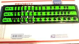 Snap On Socket Tray rack 1 4 3 8 1 2 In Green In Usa Fast Shipping