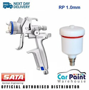 Sata Minijet 4400 B Spray Gun Rp 1 0mm Tip Smart Repair Clear Coat Lacquer