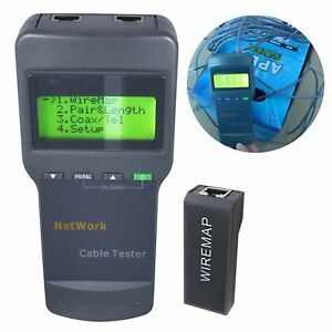 Multifunction Ethernet Network Lan Phone Cable Tester Coaxial Meter Cat5 Rj45