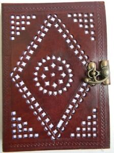 Handmade Leather Journal Notebook Diary Brown Plan Paper