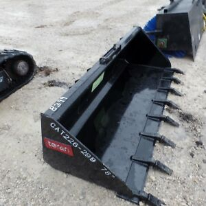 Tooth Skid Steer Bucket 78 Made In Usa Loader Quick Attach Heavy Duty