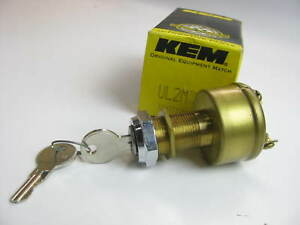 Kemparts Ul2m Universal Brass 3 Terminal Ignition Switch W 2 Keys